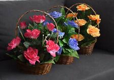 Künstliche Blumen Neu Kunstpflanzen Blumengesteck Künstliche Rosen HANDARBEIT