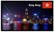 HONG KONG AT NIGHT - SOUVENIR NOVELTY FRIDGE MAGNET - BRAND NEW - GIFT