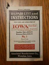 Associated Iowa Oversize Engines Waterloo IA No 1