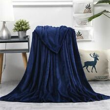 Warm Fleece Large Mink Faux Blanket Sofa Bed Throw Sheets Single And King Size