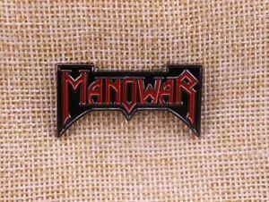 Manowar Pin Button Anstecker Heavy Metal Hard Rock