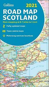 Map of Scotland 2021 Folded road map Collins Road Atlas, Collins Maps,
