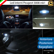 KIT LED INTERNI PEUGEOT 3008 MPV ANTERIORE POSTERIORE BAGAGLIAIO 6000K CANBUS