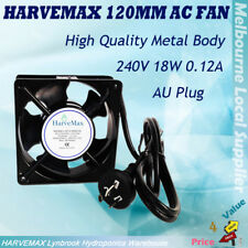 120mm Metal AC Fan Ventilation Air Cool Fan For Hydroponics Grow Tent Cooling