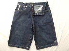 Parish denim jean shorts button fly studs gold metallic hip hop urban W34 34