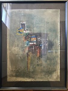 """Johnny Friedlaender - """"THIS"""" Colored Etching Mixed Media & Signed Numbered 15/95"""