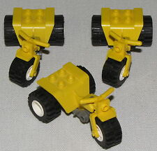 LEGO LOT OF 3 YELLOW MOTORCYCLES TRICYCLE 3 WHEELER BIKE MINIFIGURE PIECE