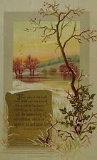 Raphael Tuck & Sons Religious Victorian Trade Card Bishop Andrews' Quote *C