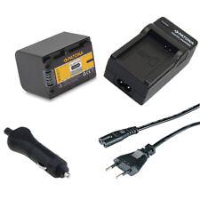 Batteria Patona + Caricabatteria casa/auto per Sony HDR-CX360VE,HDR-CX370