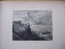 Gravure 19° in folio:Les Internés quittent la Suisse  par GUSTAVE JUNDT