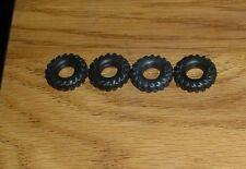 MATCHBOX King Size 4 black plastic tIres  O//D 16MM fits  K1 tipper truck