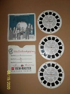 Vintage Viewmaster - The Partridge Family Slides - 3pk - Look!!