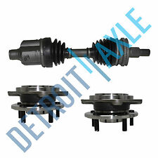 Front Driver CV Axle Joint Shaft + 2 New Wheel Hub and Bearing Assembly