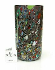 Signed Murano Art Glass Freeform Millefiori-Murrine Studio Vase  & Certificate