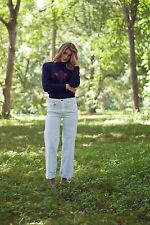 Burberry Brit Jeans Pants White Bethnal Flare White Jeans US 32R Women