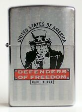 Zippo Lighter ● Defenders Of Freedom Uncle Sam USA ● Neu New OVP ● A925