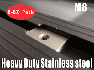 Slot Channel Nuts Rhino Pioneer platform roof rack awning M8 stainless steel