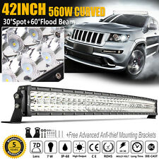 CREE 42inch 560W Led Work Light Bar Curved Offroad Ford Truck Boat ATV SUV 40 44