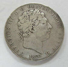 1820 Great Britain Silver Crown KM# 675 Rev. St George Slaying Dragon Crown