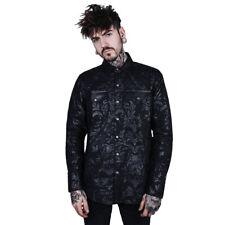 Killstar Gothic Goth Hemd - Dark Ocean Shirt Cthulhu Damask