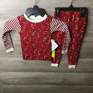 Burts Bees Toddler 2T Long Sleeve Snug Fit Organic Cotton Pajamas 2pc Set NWT