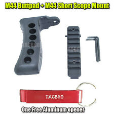 Mosin Nagant Rubber Recoil Butt Pad and M44 M91/30 M39 M38 Scope Mount