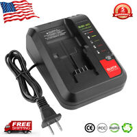 New for Black+Decker & Porter Cable 20V MAX Lithium Battery PCC692L 20V Charger