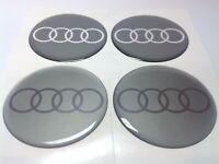 Stickers silicone centre jante moyeu de roue pour AUDI 4 x 75mm