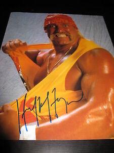 HULK HOGAN SIGNED AUTOGRAPH 11x14 PHOTO WWF WCW HOLLYWOOD HOGAN IN PERSON COA F