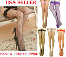 Super Sexy Women Medium Fish Net Lace Stay Up Thigh-Highs Stockings Pantyhose