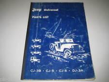 Teilekatalog Jeep Universal CJ-3B / CJ-5 / CJ-6 / DJ-3A, Stand 1962