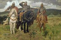 "Warrior Knights. By Victor Vasnetsov. Fine Art Print 20""x28"" New"