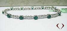 4.75CTW Emerald and Diamond Bracelet  F SI  18K
