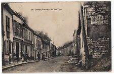 CPA 80 - CONTY (Somme) - 10. La Rue Verte (petite animation) - Ed. Ruggiéry