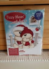 Fizzy moon  Christmas cross stitch chart / card kit