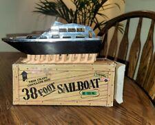 Vintage 38 Foot Yacht Novelty Gag Joke Plastic Toy Boat w/ box BiBi Products Inc