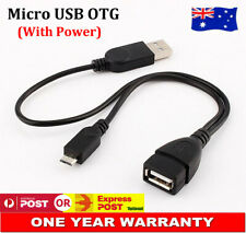 Micro-B Male To USB Female OTG Cable For Samsung Galaxy Sony Nokia With Power