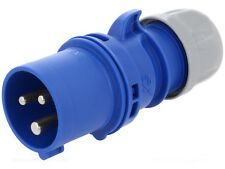10x 16Amp PCE Plug Ceeform Male 16 A IP44 230v 240v Blue BULK PACK