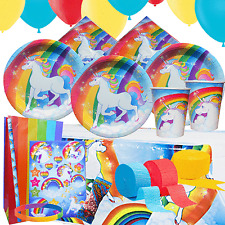 Unicorn Party Kit 3 For 8 to 16 Children | Tableware Decorations Party Bags