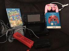 Nintendo Wii U Deluxe 32GB Black Handheld System Bundle