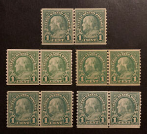 TDStamps: US Stamps Scott#597 (5) Mint NH OG 5 Pairs