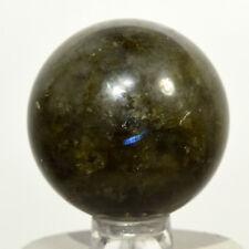 30mm Azure Flash Labradorite Sphere Natural Feldspar Crystal Stone - Madagascar