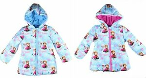 Girls Jacket Frozen Jacket 'Elsa & Anna' - Size Years 2/3 - 7/8