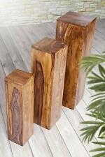 Pillar Dekosäule Säule Podest Blumenpodest Massivholz Blumenständer Massiv Holz