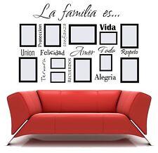 LA FAMILIA ES Spanish Vinyl Lettering Words Wall Art Quote Sticky Decals Decor