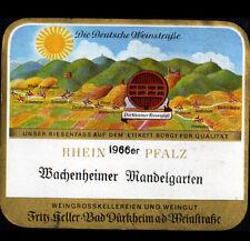"""ETIQUETTE ANCIENNE de VIN """"MACHENHEIMER MANDEDELGARTEN"""" de DURKHEIM en 1966"""