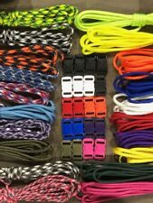 550 Paracord Kit for Parachute Cord Bracelet 200 feet and 20 Color Buckles *Usa*