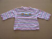 Baby Club Mädchen T-Shirt Gr. 68 rosa bunt langarm gestreift Summertime