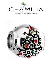 BNIB CHAMILIA 925 silver & Swarovski Christmas DELIGHTFUL DECOORATION charm bead