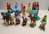 Disney Figurines Lot Vintage Aladdin Beauty and the Beast Monsters Inc Bambi